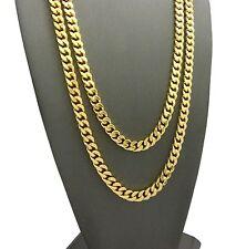 "Hip Hop 90' Rapper Gold PT 6mm 24"" & 30"" Box Cuban Chunky Chain 2 Necklace Set"