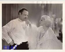 Jean Harlow Wallace Beery VINTAGE Photo Dinner At Eight