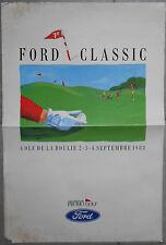 Affiche 7ème FORD CLASSIC Versailles GOLF DE LA BOULIE 1988