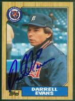Original Autograph of Darrell Evans of the Detroit Tigers on a 1987 Topps Card
