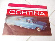 Ford Cortina 1962 catálogo folleto comercial prospekt ventas Catálogo