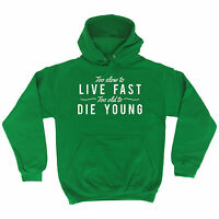 Too Slow To Live Fast HOODIE hood birthday fashion mum dad parents funny gift