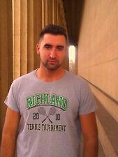 RICHLAND 2010 TENNIS TOURNAMENT Gray 100% Cotton Size XL T-Shirt