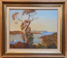 Middle Harbour Sydney. Oil by listed Australian artist Harold J Slocombe, c1975