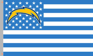 Los Angeles Chargers Football Team Star&Strip Flag 90x150cm 3x5ft best banner