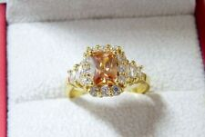 Unbranded Topaz Oval Yellow Gold Filled Costume Rings