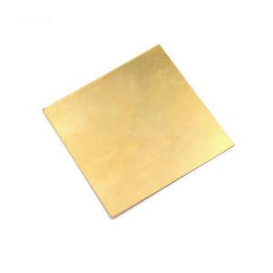 Brass Metal Thin Sheet Foil Plate Thick 0.5mm/0.8mm/1mm/2mm 100X100mm DIY