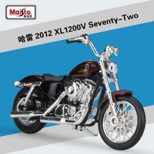 1:18 Maisto Harley Davidson 2012 XL 1200V Seventy-Two Bike Motorcycle Red New