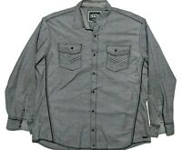 Buckle Black Mens 2XL Long Sleeve Button Up Shirt Gray EUC