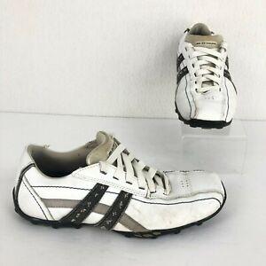 Skechers Men's Size 8 Talus Ultimatum White Grey Lace-Up Sneaker Shoes
