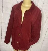 Vintage Eddie Bauer Corduroy Shirt Button Front Long Sleeve Women Sz L Tall