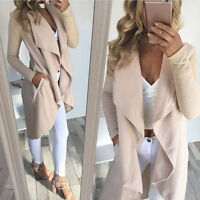 Women Cardigan Coat Ladies Casual Long Sleeve Cardigan Coat Open Front Jacket