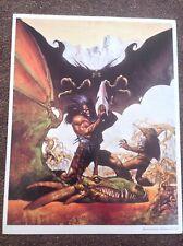 Slaine Horned God stampa Simon Bisley VINTAGE 1995 Fantasy Art fumetto GUERRIERO UCCIDERE