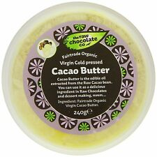 The Raw Chocolate Company Organic Virgin Cold Pressed Cacao Butter 240g