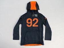 Abercrombie & Fitch Kids Boy's A&F Active #92 Hoodie Navy/Orange HM7 Size 5/6