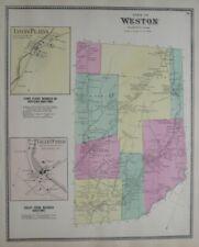 Original 1867 School District Map WESTON Fairfield County Connecticut Saugatuck