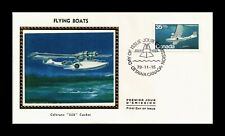 DR JIM STAMPS CANADA FLYING BOATS FDC COLORANO SILK CACHET COVER