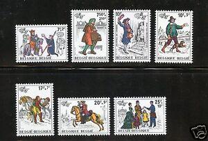 Belgium Complete MNH Set #B1015-1021 + #B1022 Souvenir Sheet Stamps