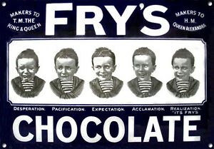FRY'S CHOCOLATE,Vintage style, Metal sign, Collectable, Enamel, No.609
