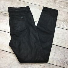 MNM By Mango Coated Skinny Jeans Size 12 Womens Black Jegging Pleather Wet Look