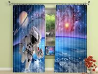3D Cosmic Spaceman 63 Blockout Photo Curtain Printing Drapes Fabric Window CA