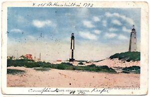 Cape Henry Lighthouses Virginia Jamestown Exposition 1907 Postcard 1910 No.150
