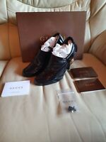 Ladies Gucci Black Patent Shoes Heels  37.5  UK  4.5