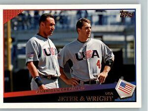 2009 Topps Update Baseball #UH17 Jeter & Wright - New York Yankees