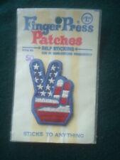 Vintage 1960s - 70s Usa Finger Press Hippie Mod Biker Original Peace Sign Patch