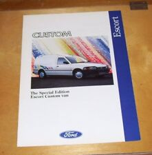 FORD SPECIAL EDITION ESCORT CUSTOM VAN SALES BROCHURE.  May 1992. FA1080