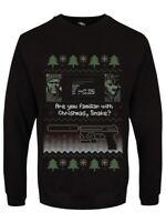 Are You Familiar With Christmas Snake? Christmas Jumper Men's Black Sweater