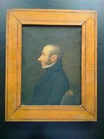 Tableau période Restauration superbe état huile sur toile portrait homme
