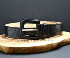 Cole Haan Genuine Womens Leather Belt Black Size XS