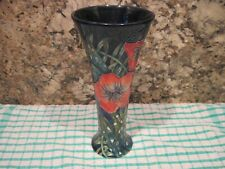 OLD TUPTON WARE TUBE LINED VASE. 20 cm TALL. AS PICTURED.