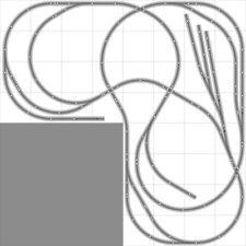 Layout #029 Bachmann HO EZ Track (NS) Nickel Silver - 8' X 8' L-Shape NEW