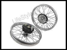 Vintage Front Rear Half Width Hub Wheel Rim Assembly Royal Enfield Bikes BSA