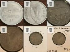 IRELAND 1939 Irish Silver Two Shilling Florin And 1939 Shilling!