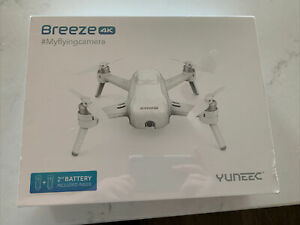 Yuneec Breeze 4K Camera Drone Included 2 Batteries Flying Camera New Sealed Box