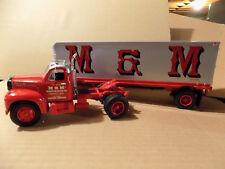 M & M TRANSPORT B MACK TRACTOR/TRAILER  First Gear MINT 1st
