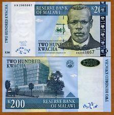 Malawi, Africa, 200 Kwacha, 2001, Pick 47 (47a), UNC > OVD Strip