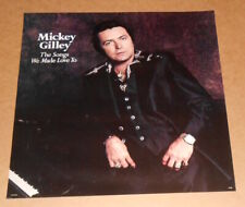Mickey Gilley The Songs We Made Love To 1979 Vintage Promo Poster 23x23 Country