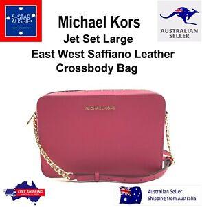 Michael Kors Jet Set Large East West Saffiano Leather Crossbody Bag