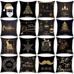 18x18'' Christmas Xmas Cushion Cover Pillow Case Sofa Home Bed Decor Snowflake