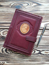 Travel Journal Top-Grain Leather Blank Blank Book Brown Personal Diary Notebook