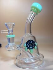 Green beautiful turtle Glass bongs smoking Pipe Glass Pipe Beaker Bongs hookahs