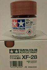 Tamiya acrylic paint XF-28 Dark copper 23ml.