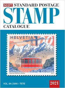 2021 SCOTT Estándar Sello de Correos Catálogo en Todo el Mundo ( San-Z ) Volumen