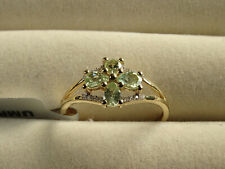 Rare UV Colour Change Merelani Mint Garnet & Diamond 10K Y Gold Ring Size P-Q/8