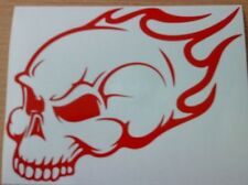 "LARGE 21"" skull car bonnet side sticker decal graphic tribal flames van wall art"