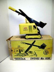 Vintage 1960's Tonka #526 Pressed Steel Excavator Track Shovel With /Box Nice